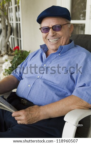 Man Relaxing on Porch