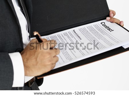 Man Sign Contract Business Concept