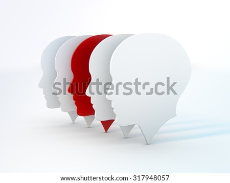 man silhouette business concept. 3d render on white background.