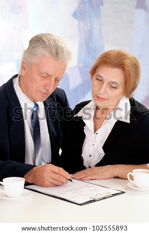 man with a lady on a white background