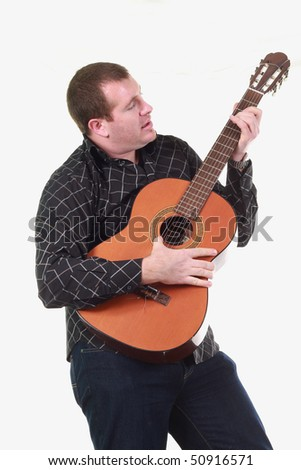 man with classic guitar