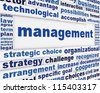 Management poster conceptual design. Business activities message background - stock photo