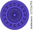 mandala created from fractals - a full-blown Flower of Life - stock photo