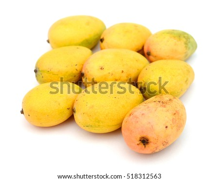Mangoes isolated on white