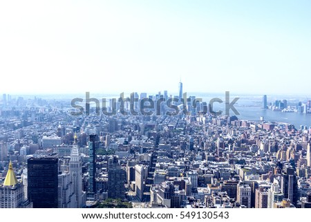 Manhattan air view.