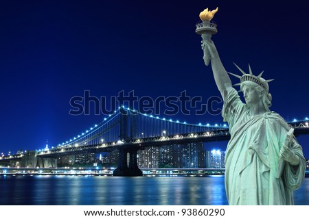 Statue Of Liberty At Night Time new york statue of liberty at