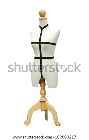 mannequin on white background