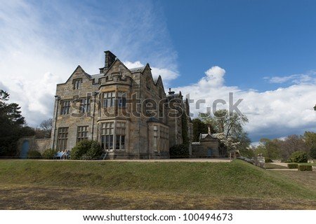 Manor house on the ground s of Scotney Castle in Kent England
