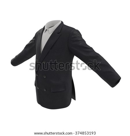 Mans Suit Jacket Isolated on White Background