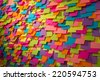 Many of colorful stickers and shadows - stock photo