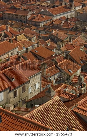 Many of the roof tiles were replaced after Serbia's war with Croatia.