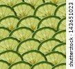 Many slices of fruit Bergamot - stock photo