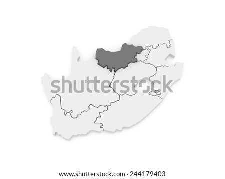 Map Limpopo Polokwane South Africa 3d Stock Illustration 244179409