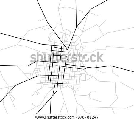 map of streets - city