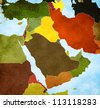 Map of the Middle East - stock photo
