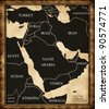 Map of the Middle East - stock