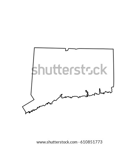 Map Of The U S State Connecticut
