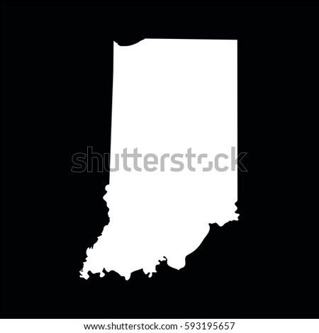 Map Of The U S State Of Indiana