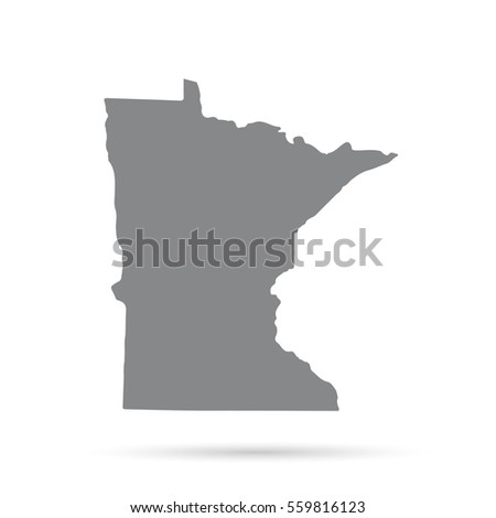 Map Of The U S State Of Minnesota On A White Background