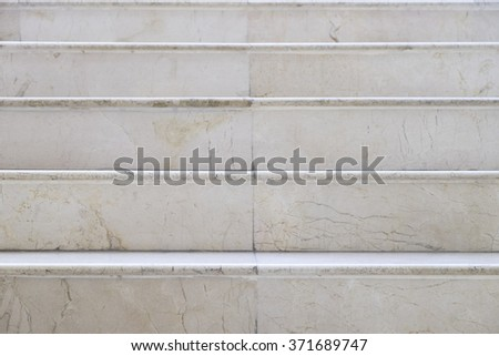Marble stairs straight on