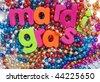 mardi gras with beads - stock photo