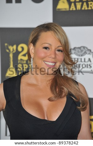 Mariah Carey at the 25th Anniversary Film Independent Spirit Awards at the L.A. Live Event Deck in downtown Los Angeles. March 5, 2010  Los Angeles, CA Picture: Paul Smith / Featureflash