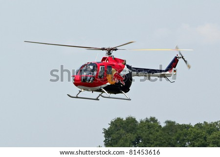MARIBOR, SLOVENIA - JUNE 3: BO-105 at the Aviofun airshow at the airport in Maribor on June 3, 2011 in Maribor, Slovenia