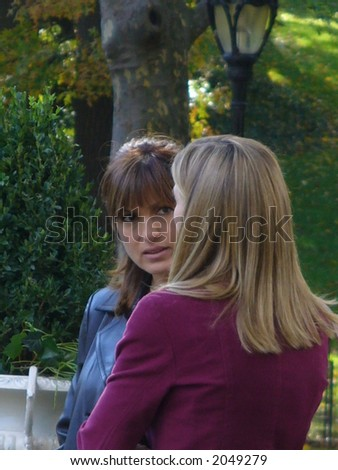 Mariska Hargitay, and Isabel Gillies on the set of Law & Order: Special Victims Unit in New York City (visible Noise at Full Size)