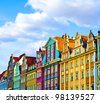 Market square tenements, Wroclaw Poland - stock photo