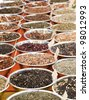 Market with Herbal Tea for sale - stock photo