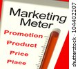Marketing Meter With Place Price Product And Promotion - stock photo