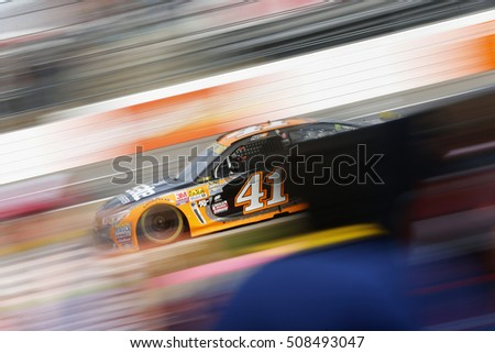 Martinsville, VA - Oct 30, 2016: Kurt Busch (41) races for the Goody's Fast Relief 500 at Martinsville Speedway in Martinsville, VA.