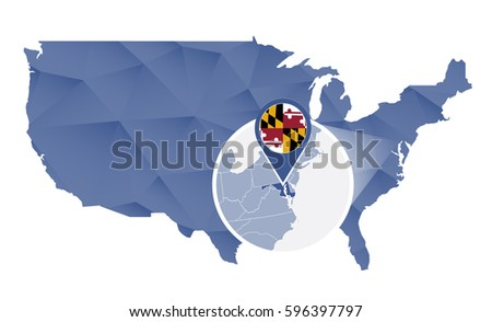 Map Of Maryland In The USA Is Maryland Part Of The American South - Us map maryland state