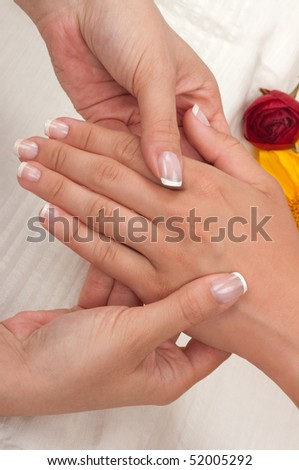 Massage and manicure