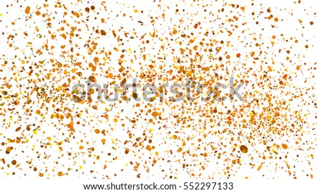 massive splash of golden and yellow round shape tiny confetti particles
