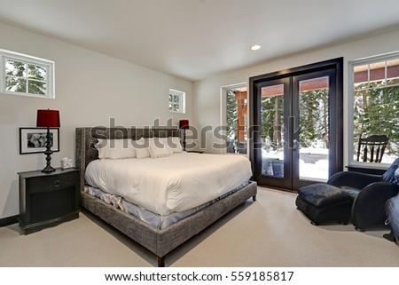 Master Bedroom Luxury Home Tray Ceiling Stock Photo 352473887 Shutterstock
