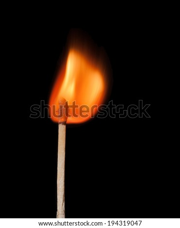 match in flame