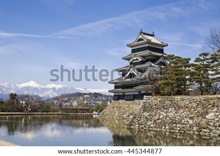 Matsumoto Castle built in 16th Century in Matsumoto City, Nagano, Japan