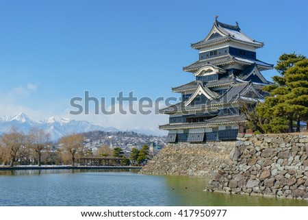Matsumoto castle in winter