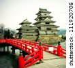 Matsumoto Castle, - one of te oldest in Japan - stock photo