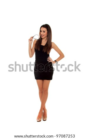 Mature business woman. Isolated over white background