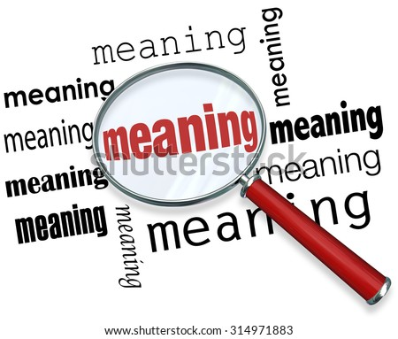 Meaning Word Under Magnifying Glass - 41.6KB