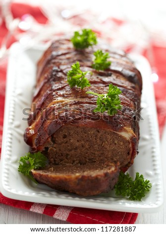 Meatloaf with bacon