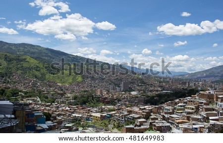 Medellin, the second biggest city in Colombia, Department of Antioquia.