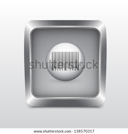 Media social icon. Detailed button for design. Raster version of the loaded vector