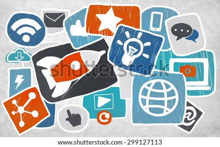 Media Social Media Social Network Internet Technology Online Concept