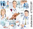Medical doctors working in the office - stock photo