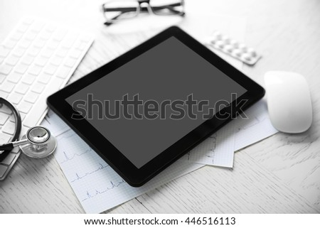 Medical equipment. Cardiogram concept