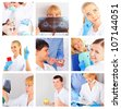 Medical staff portrait set - stock photo