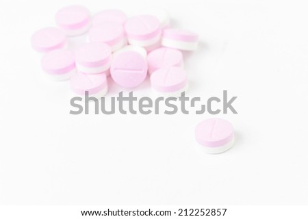 medicine pill isolated on a white background
